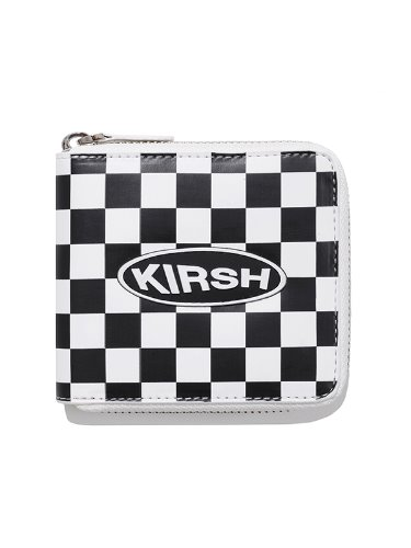 KIRSH POCKET CIRCLE LOGO WALLET IA [WHITE]