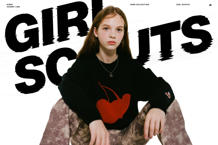 19AW CHERRY LINE 'GIRL SCOUTS'