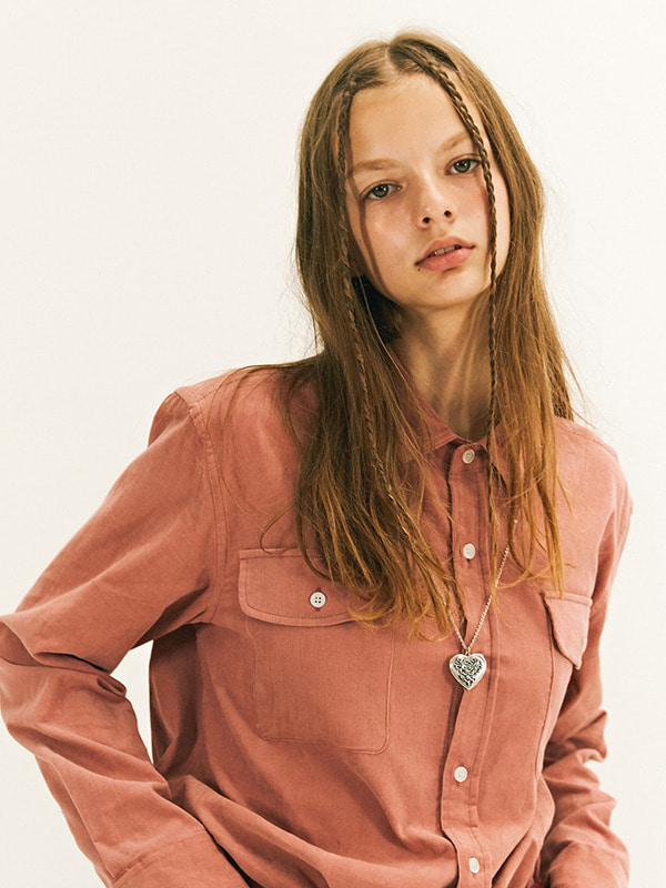 DOUBLE POCKET SHIRT GA [PINK]
