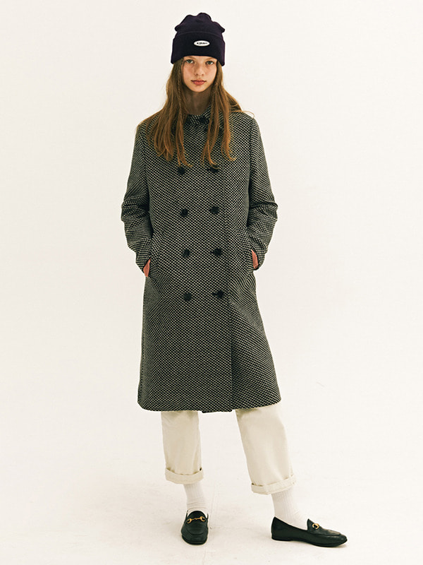 DOUBLE MAC COAT GA [BLACK]