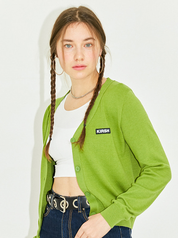 FITTED CARDIGAN HS [GREEN]