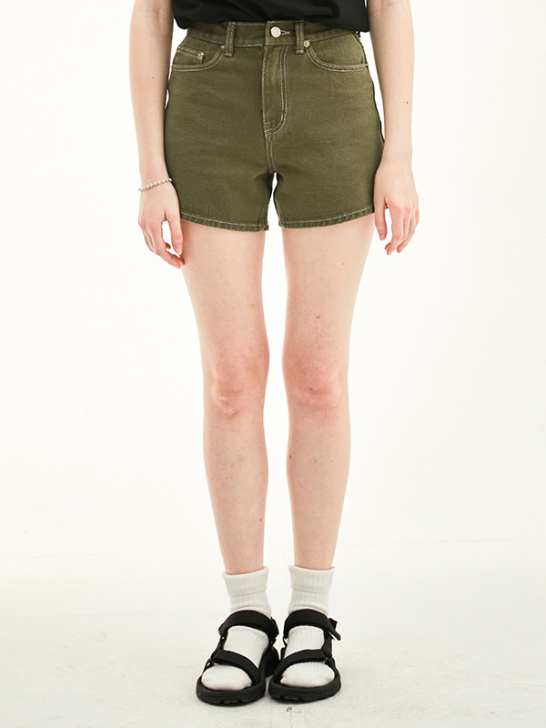 HIGH WAIST SHOT PANTS HS [KHAKI]