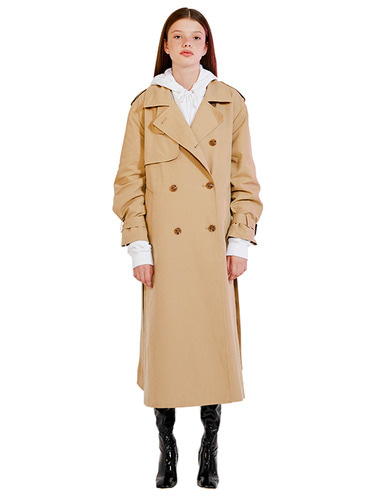 LONG TRENCH COAT HA [BEIGE]