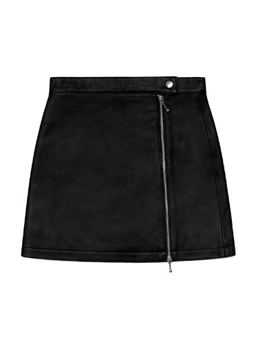 VIVASTUDIO x KIRSH LEATHER SKIRT HA [BLACK]