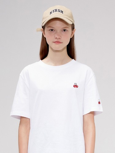 HEART CHERRY T-SHIRTS IS [WHITE]
