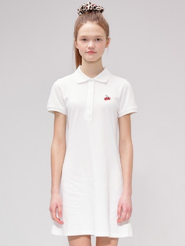 CHERRY PK DRESS IS [WHITE]