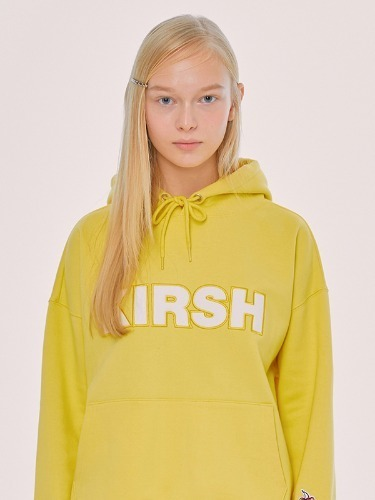 KIRSH LOGO HOODIE IS [YELLOW]