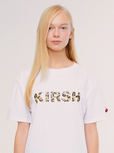 KIIRSH LEOPARD LOGO T-SHIRT IS [WHITE]