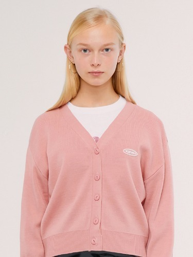 (2월 22일 예약배송)KNIT SLIM CARDIGAN IS [PINK]
