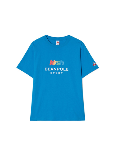 [BPS X KIRSH] GLITTER RAINBOW LOGO T-SHIRT [BLUE]
