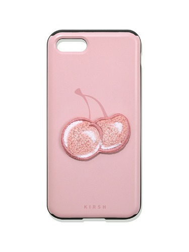 (8월26일 예약발송)BIG CHERRY MIRROR PHONE CASE IA [LIGHT PINK]