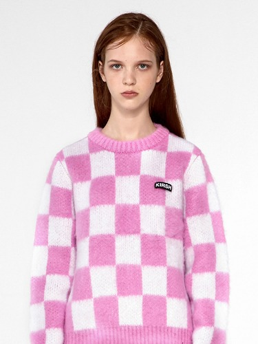 CHECKERED KNIT IA [PINK]