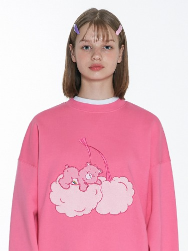 CARE BEAR CHERRY-CLOUD SWEAT SHIRT [PINK]