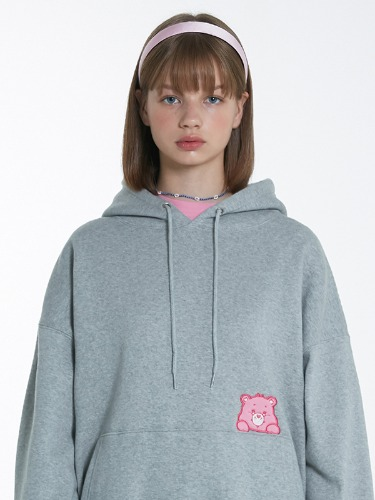 CARE BEAR BABY POCKET HOOD [MELANGE GRAY]