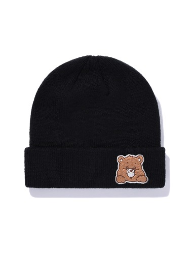 CARE BEAR WAPPEN KNIT BEANIE [BLACK]