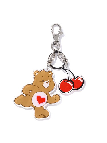 CARE BEAR CHERRY KEY RING [BROWN]