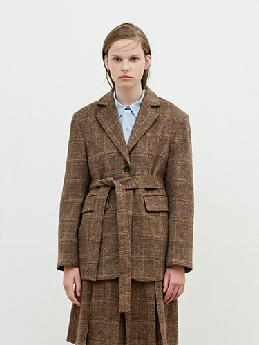 Two way Tailored Jacket [Brown]