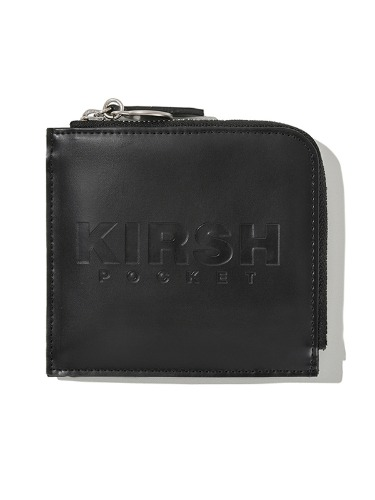 KIRSH POCKET LOGO HALF WALLET JS [BLACK]