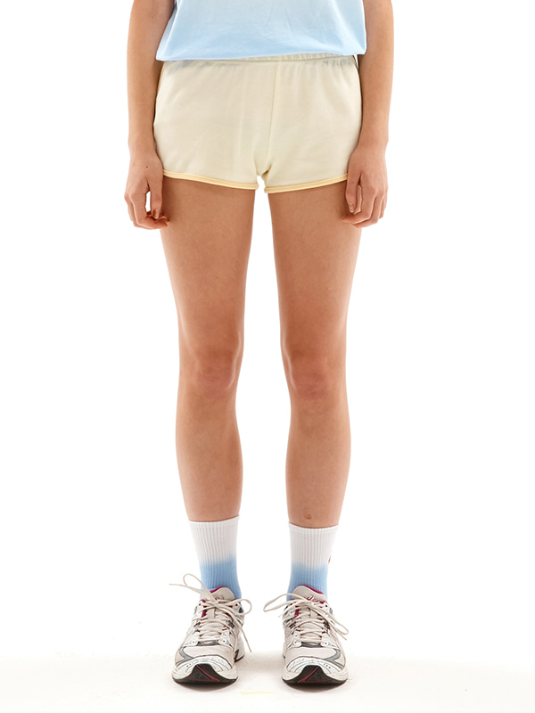 TONE ON TONE CHERRY SHORT PANTS JS [CREAM]