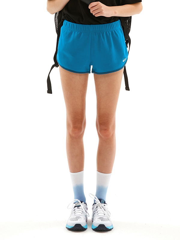 TONE ON TONE CHERRY SHORT PANTS JS [BLUE]