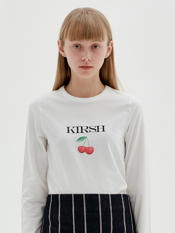 KIRSH 3D CHERRY TEE JS [WHITE]