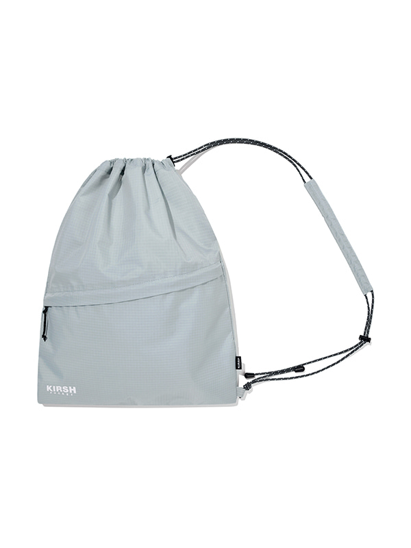 KIRSH POCKET STRING GYM BAG JH [GRAY]