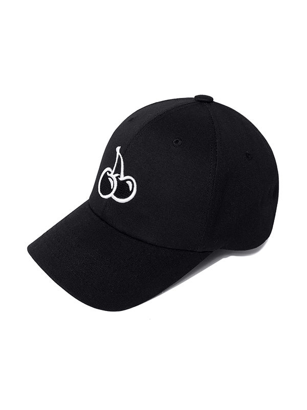 MIDDLE CHERRY BALL CAP JH [BLACK]