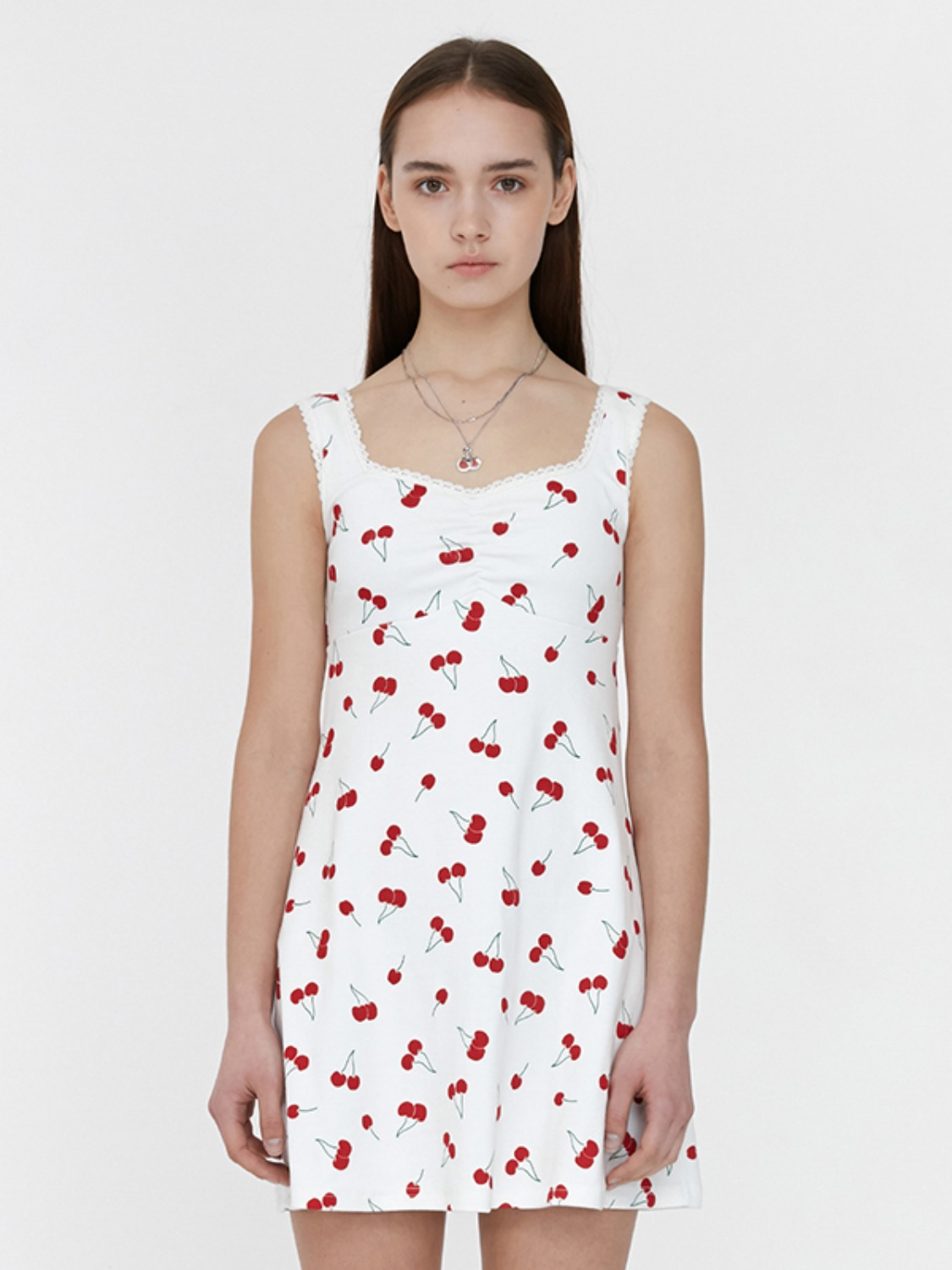CHERRY JERSEY ONE-PIECE JH [IVORY]