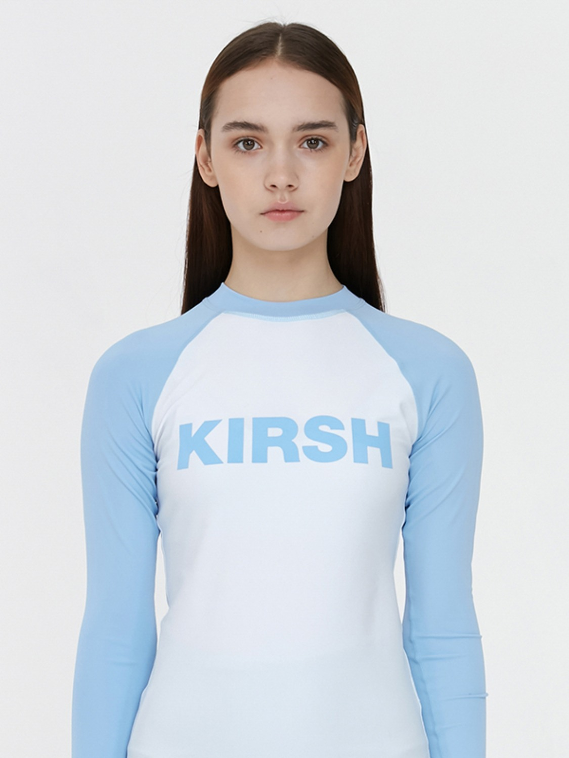 KIRSH LOGO RASHGUARD JH [LIGHT BLUE]