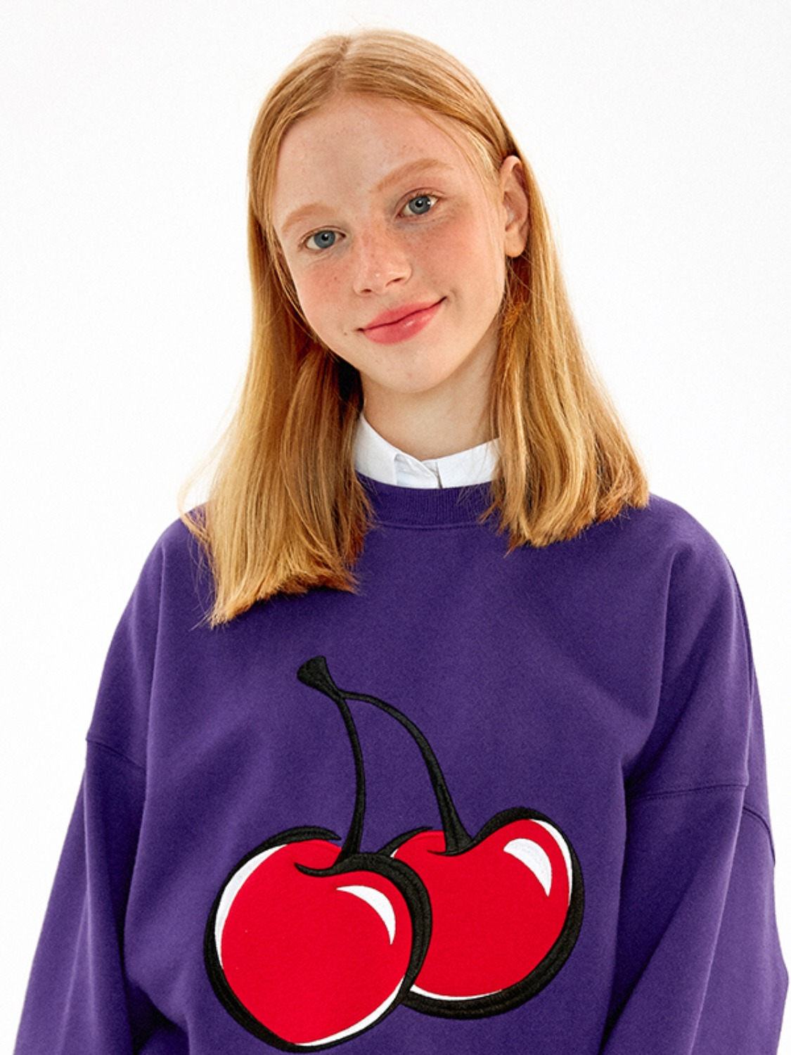BIG CHERRY SWEATSHIRT JA [PURPLE]