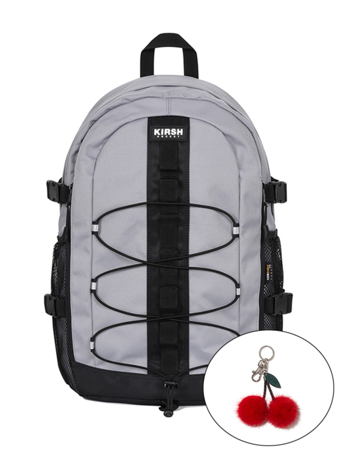 KIRSH POCKET STRING BACKPACK JA [GRAY]