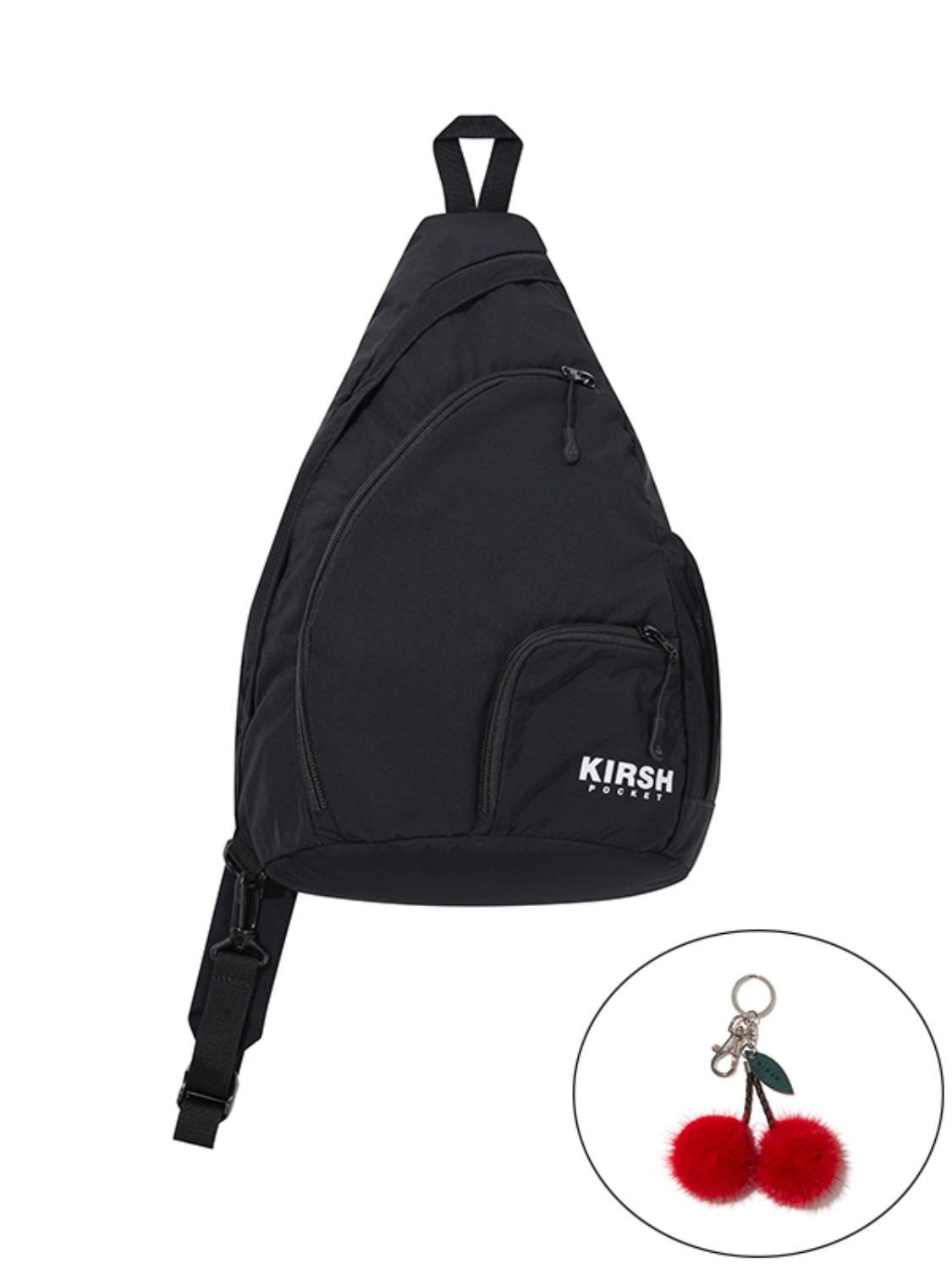 KIRSH POCKET MULTI POCKET SLING BAG JA [BLACK]