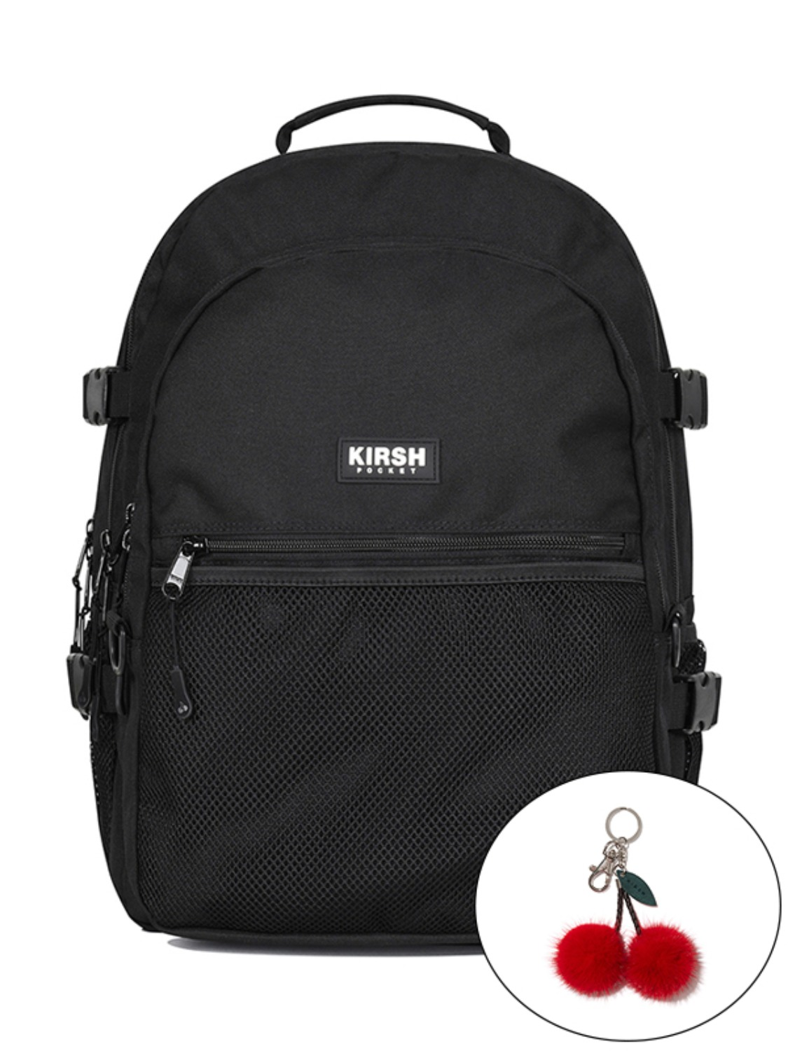 KIRSH POCKET STORAGE BACKPACK JA [BLACK]