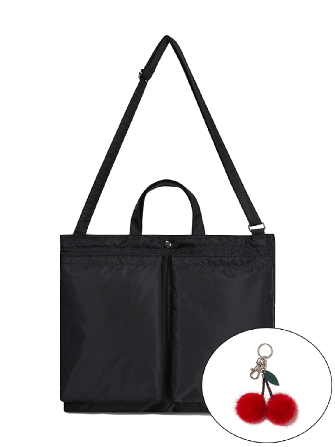 KIRSH POCKET 2-WAY SHOULDER BAG JA [BLACK]