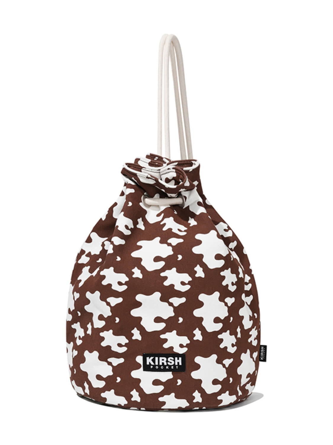 KIRSH POCKET MILK COW BUCKET BAG JA [BROWN]