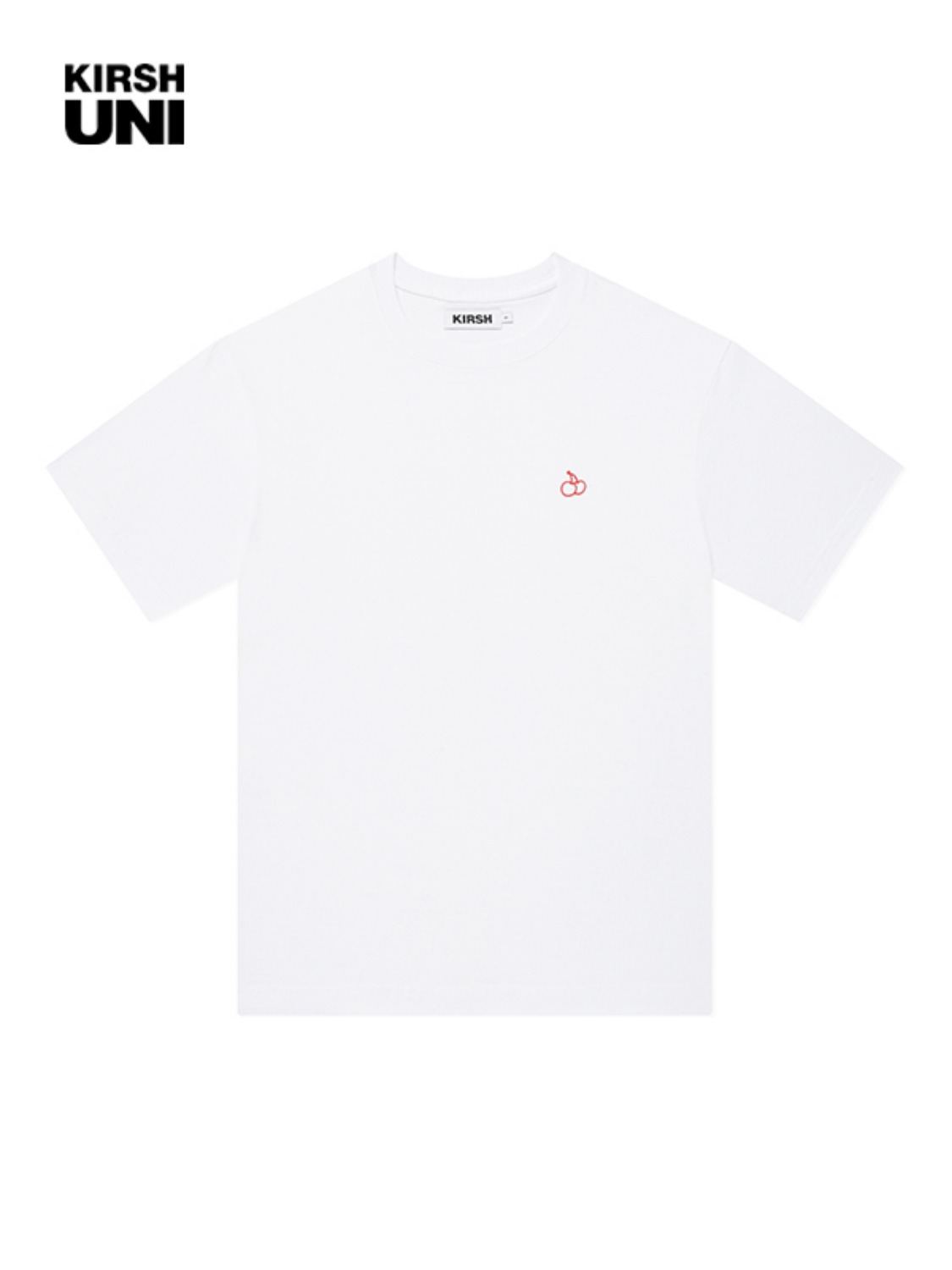 UNI OUTLINE CHERRY HALF SLEEVE T-SHIRT KS [WHITE]