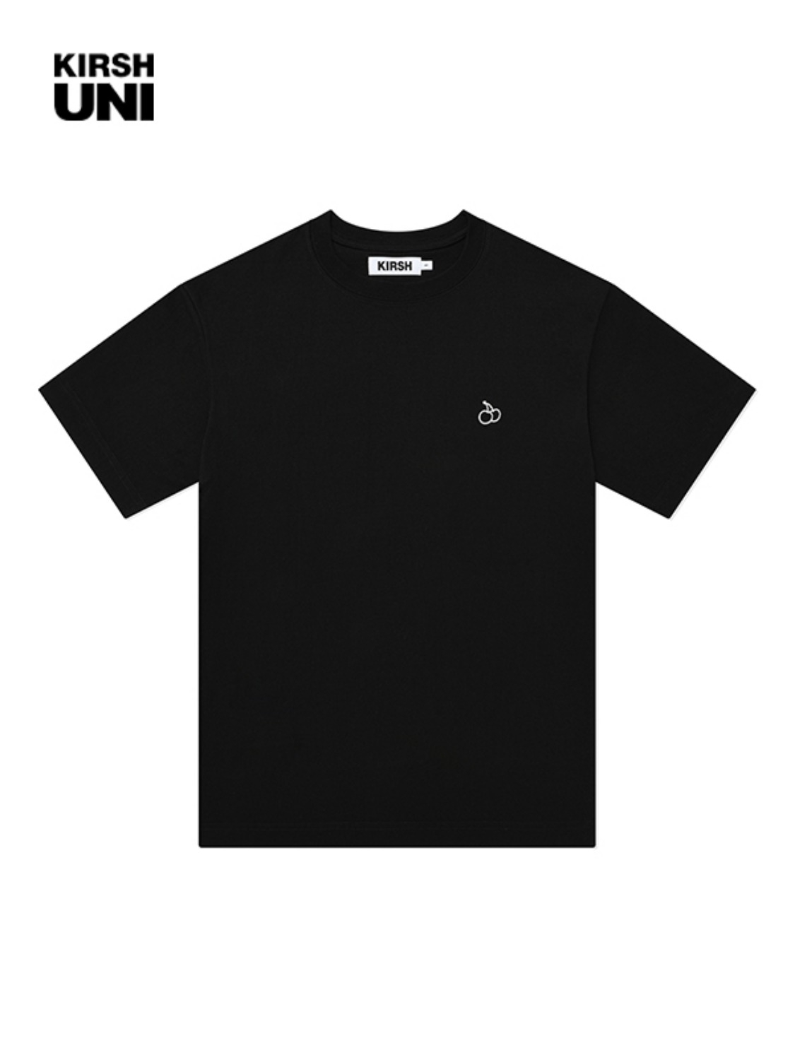 UNI OUTLINE CHERRY HALF SLEEVE T-SHIRT KS [BLACK]