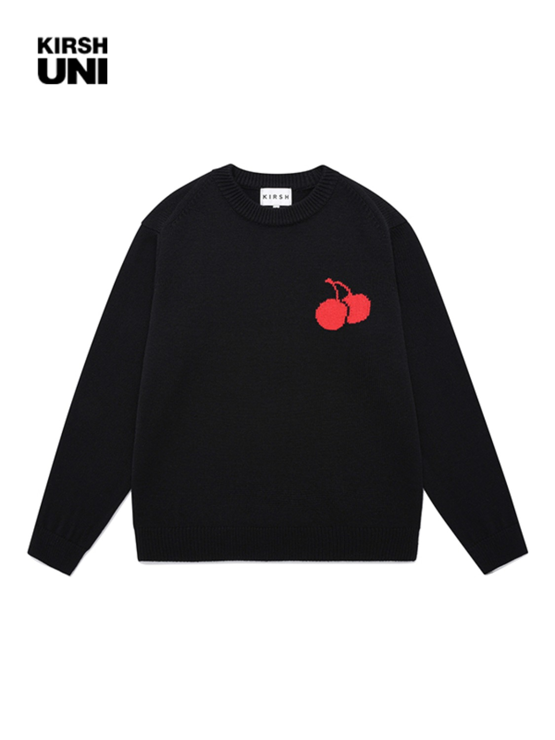 UNI MIDDLE CHERRY KNIT KS [BLACK]