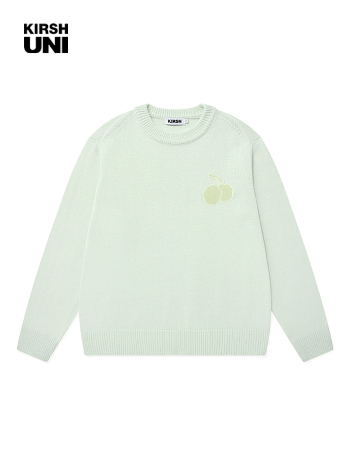 UNI TONE ON TONE MIDDLE CHERRY KNIT KS [LIGHT MINT]