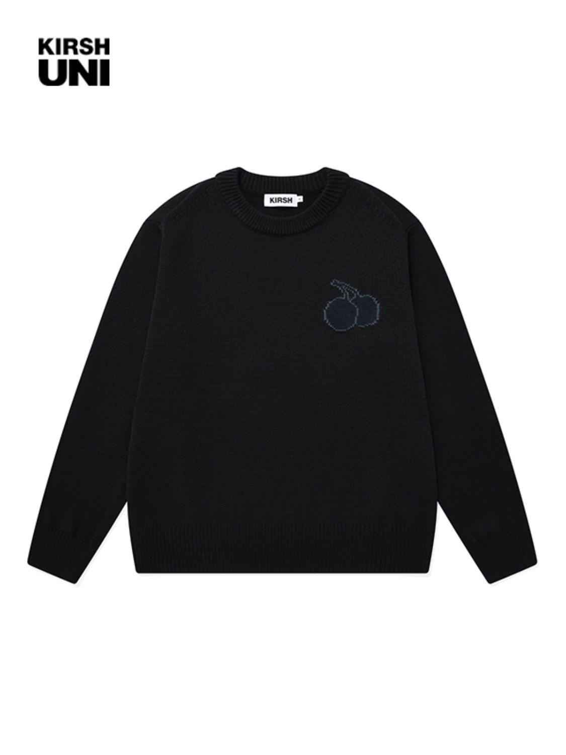 UNI TONE ON TONE MIDDLE CHERRY KNIT KS [BLACK]