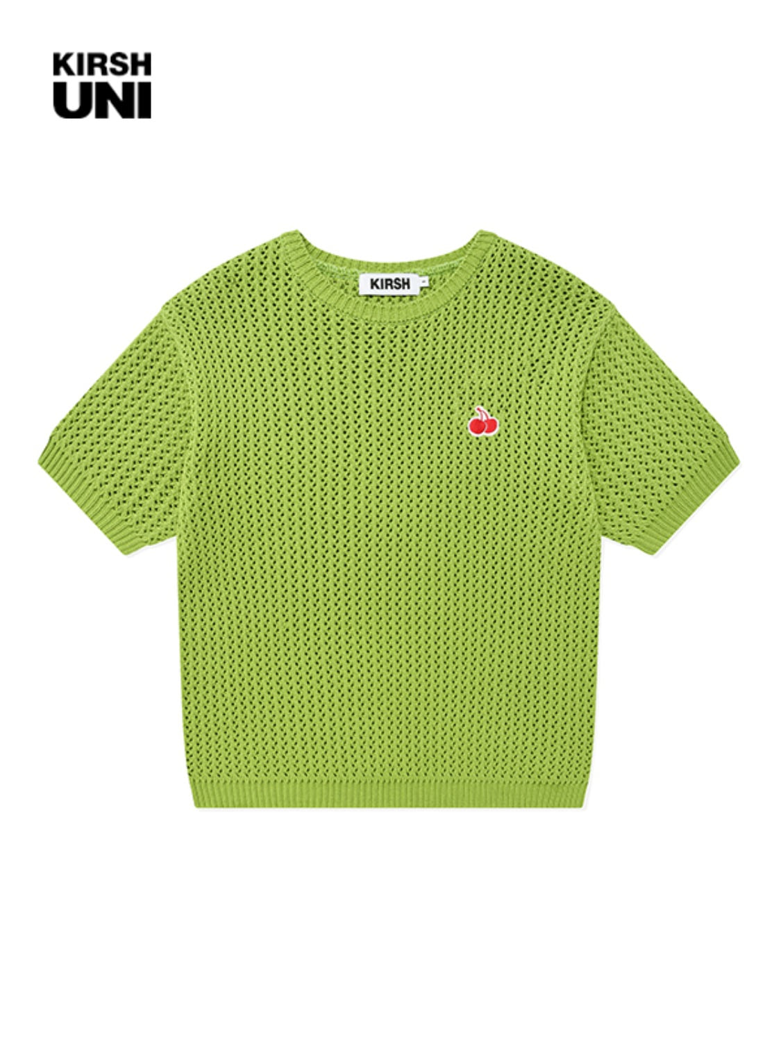 UNI SMALL CHERRY SHORT SLEEVED KNIT KS [GREEN]