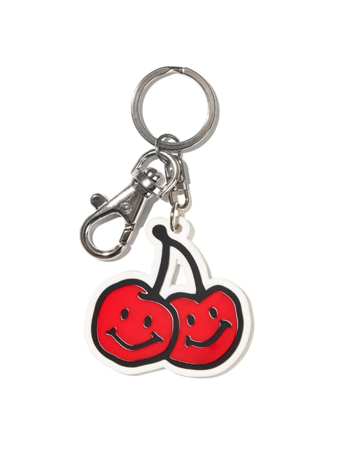 DOODLE CHERRY RUBBER KEYRING KS [RED]