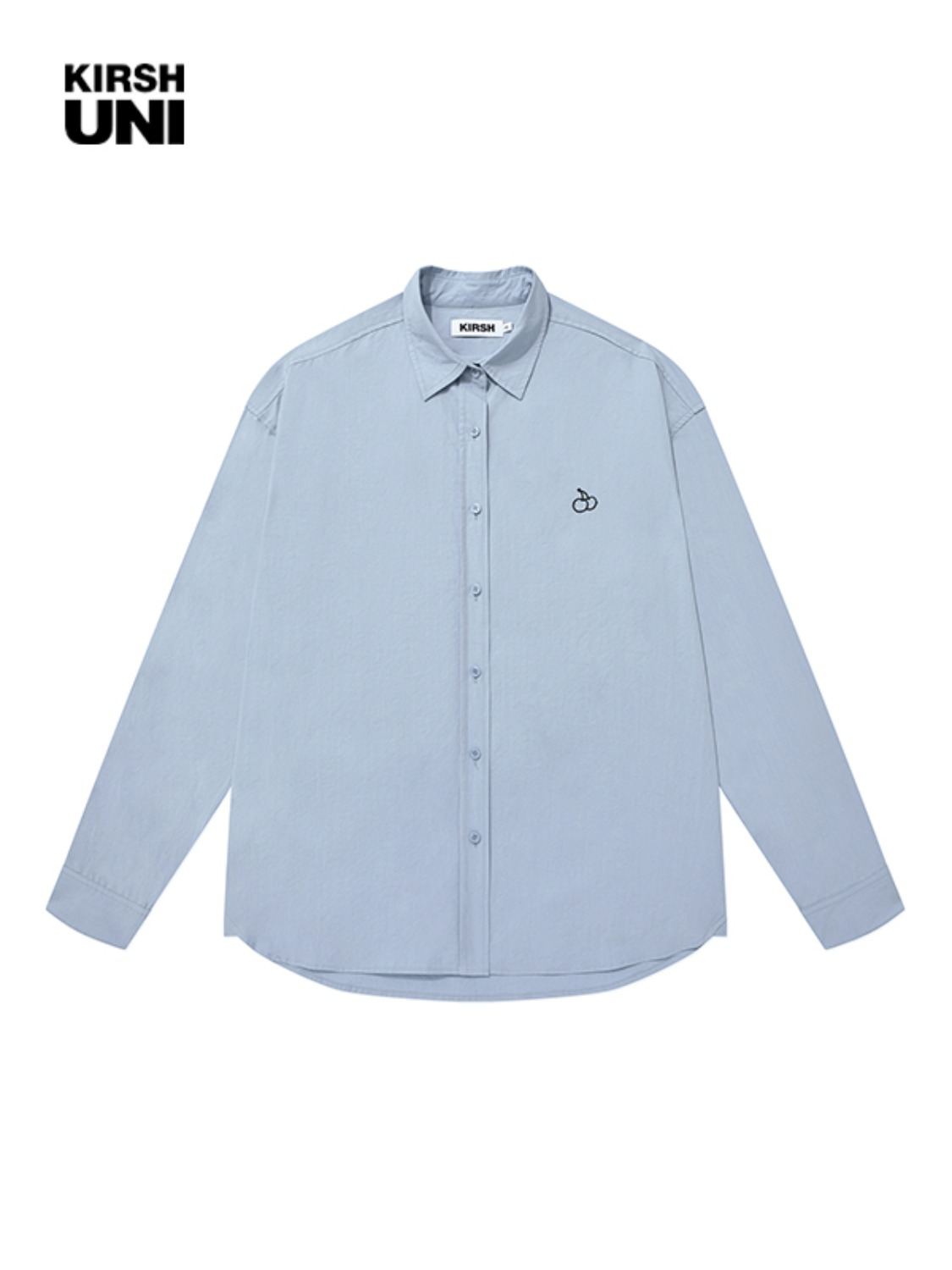 UNI OUTLINE SMALL CHERRY OVERSIZE SHIRT KS [LIGHT BLUE]