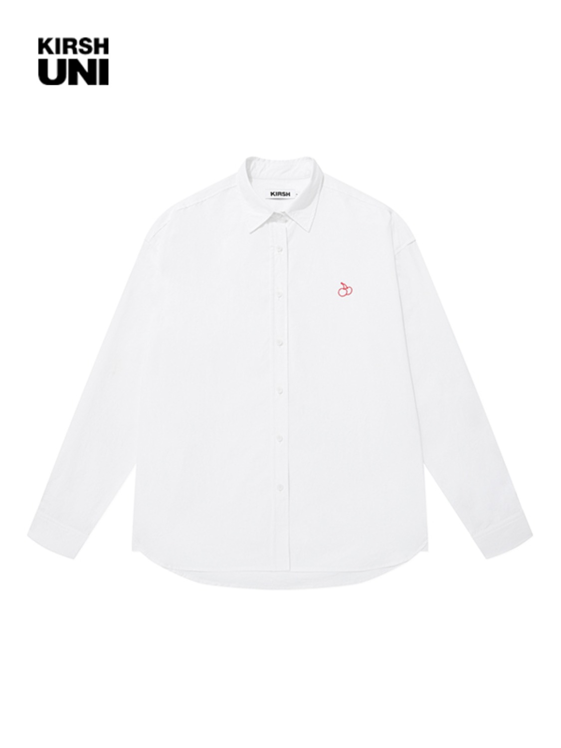 UNI OUTLINE SMALL CHERRY OVERSIZE SHIRT KS [WHITE]