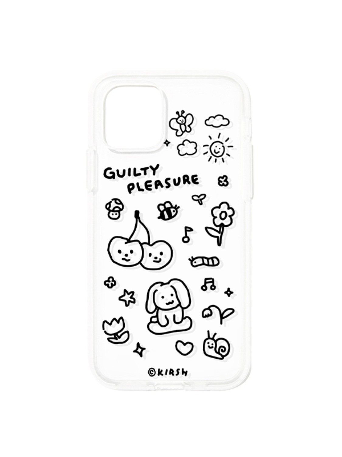DOODLING PHONE CASE KS [BLACK]