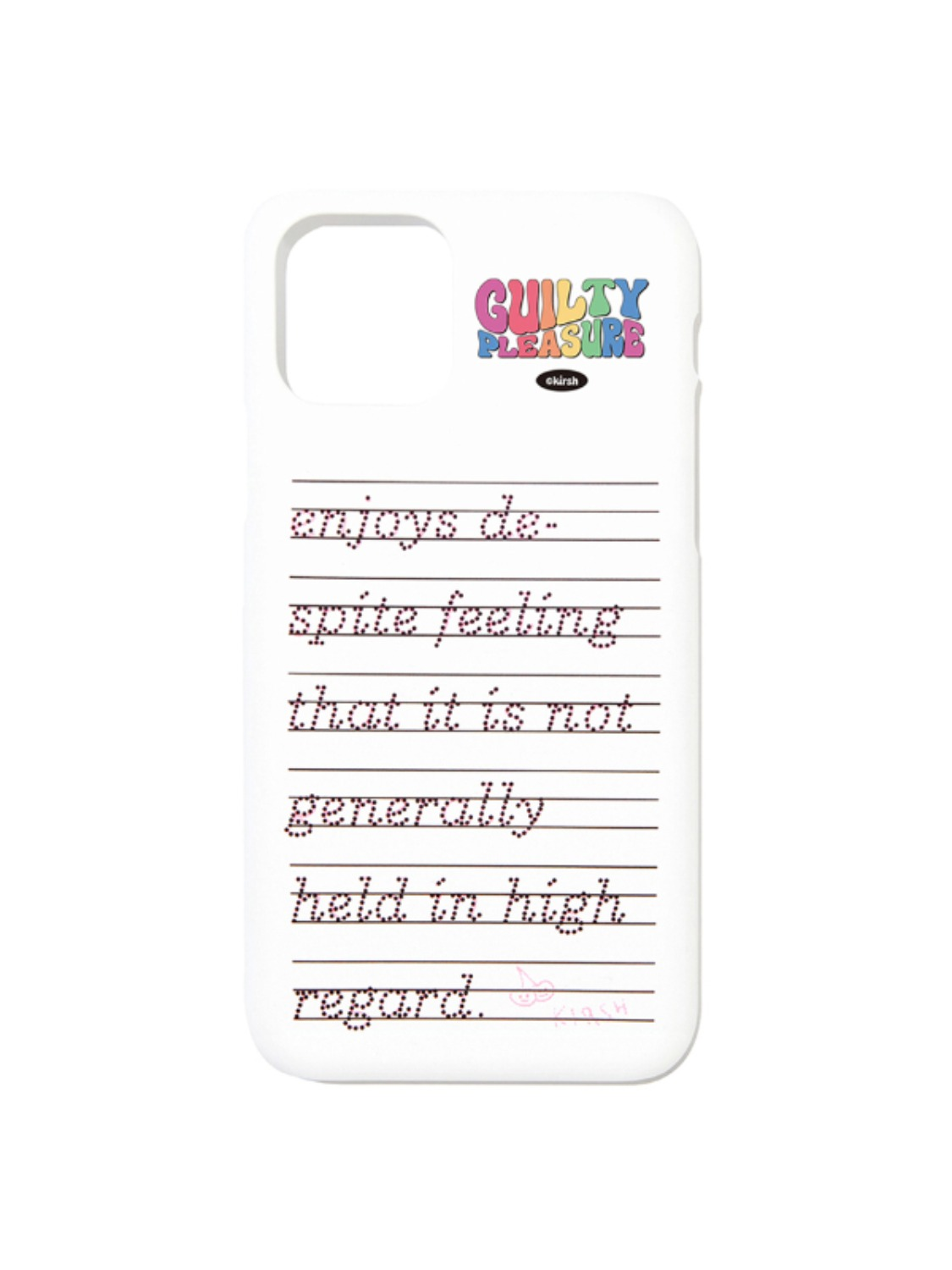 LETTERING PHONE CASE KS [WHITE]